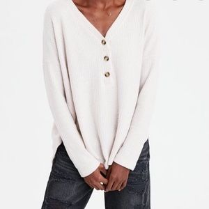 American Eagle Soft and Sexy Waffle Henley